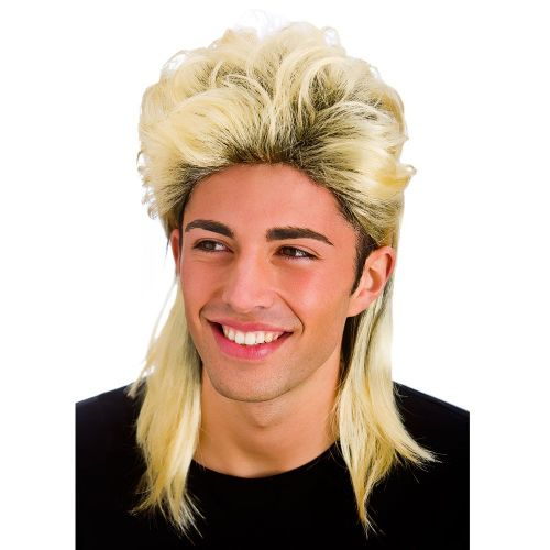 Mullet Wig for 70s 80s Cheese Waddle Hoddle Fancy Dress